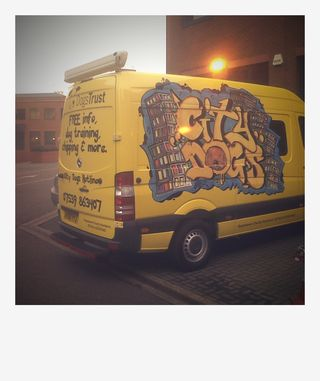 Van for the dogs trust scheme city dogs it is all decked out to hold