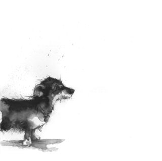 bird and beast drawing of dog